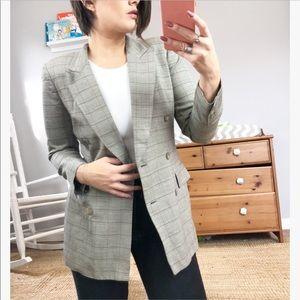 Liz Claiborne vintage double breasted check blazer